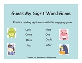 Sight Word Game: Guess My Sight Word
