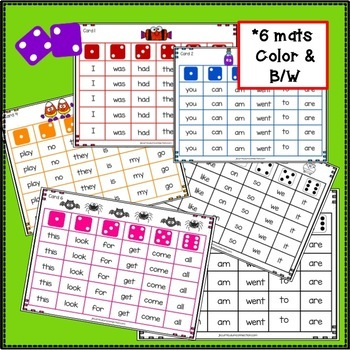 Sight Word Game - Halloween Roll & Cover {EDITABLE}