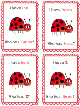 Sight Word Game: I have...Who has...? Level 1
