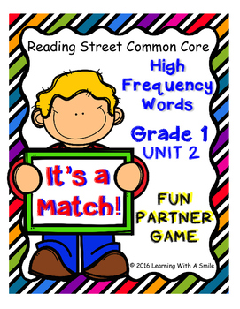 Reading Street Sight Word Game - IT'S A MATCH! - First Grade