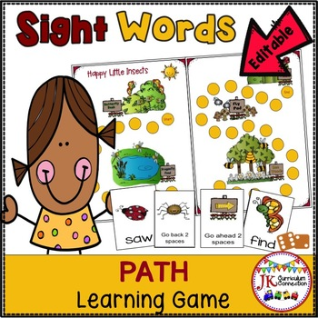 Sight Word Game - Happy Little Insects {EDITABLE}