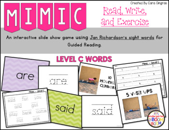 Sight Word Game - Jan Richardson Level C Sight Words