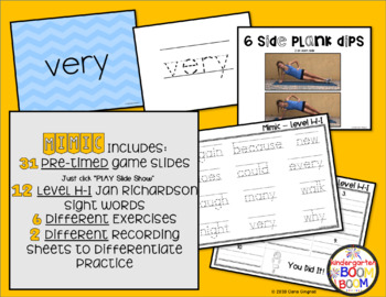 Sight Word Game - Jan Richardson Level H-I Sight Words
