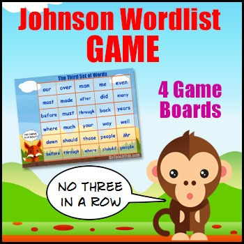 Sight Word Game - The Johnson List  -