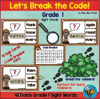 Sight Word Game: Let's Break the Code (Dolch Grade 1)