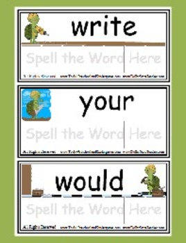 Sight Word Game Level 4 - Toolin' Turtles - Reading Literacy Center - Spelling