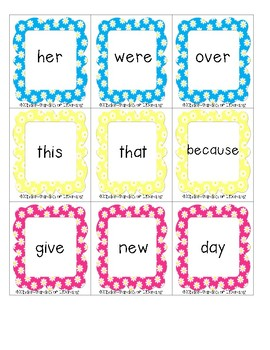 Sight Word Game-Memory Match