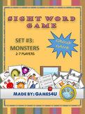 Sight Word Game - Monsters