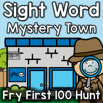 Sight Word Game - Mystery Town- Editable