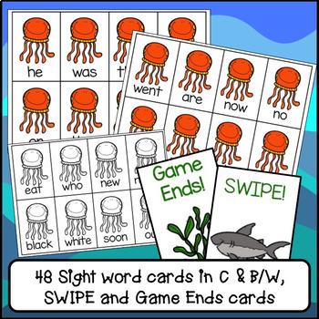 Sight Word Game - Octopus SWIPE Game {EDITABLE}