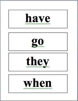 Sight Word Game-Oh No!