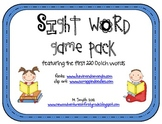 Sight Word Game Pack with the Dolch 220