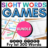 Sight Words Games BUNDLE Distance Learning