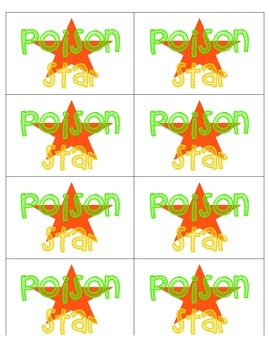 Poison Star - Sight Words Game
