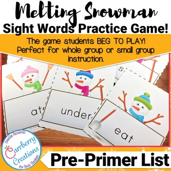 Sight Words Flashcards Game   Pre-Primer List