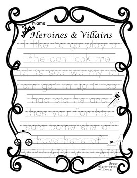 Sight Word Game-Princes&Villains