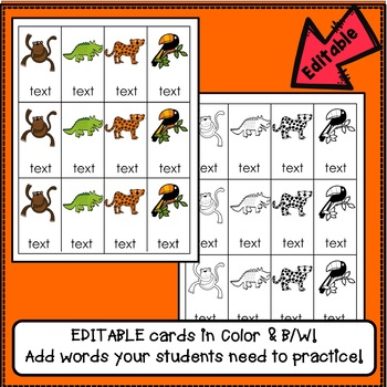 Sight Word Game – Race Through the Rainforest {EDITABLE}