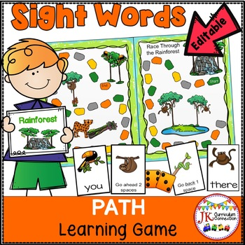 Sight Word Game – Race Through the Rainforest {EDITABLE}