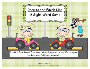 Sight Word Game- Race to the Finish!