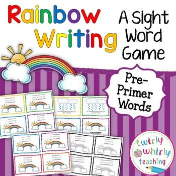 Sight Word Rainbow Writing Pre-Primer List