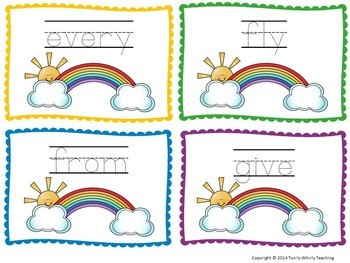 Dolch Sight Word Rainbow Writing Grade 1 List