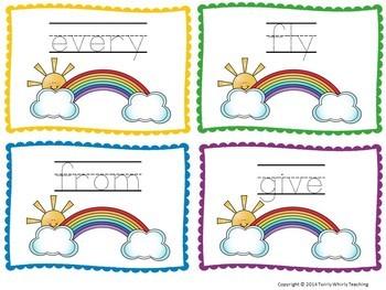 Rainbow Write Sight Words Grade 1 List