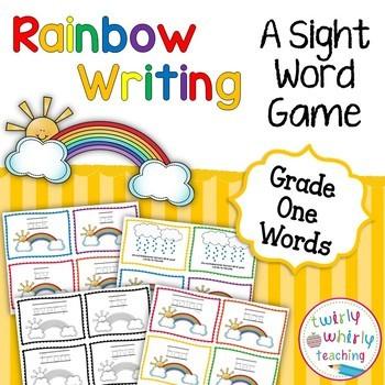 Dolch Sight Word Rainbow Writing Grade 1 List