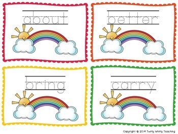 Dolch Sight Word Rainbow Writing Grade 3 List