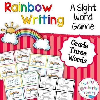 Dolch Sight Word Rainbow Writing Grade 3 List