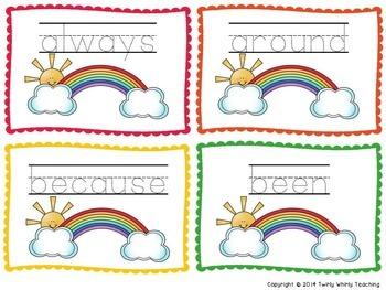 Rainbow Write Sight Words Grade 2 List