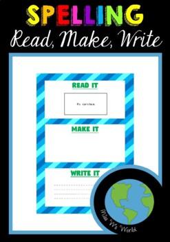 Sight Word Game Read, Make, Write AUS/USA