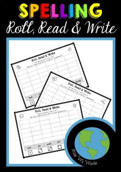 Sight Word Game Roll, Read, Write AUS/USA