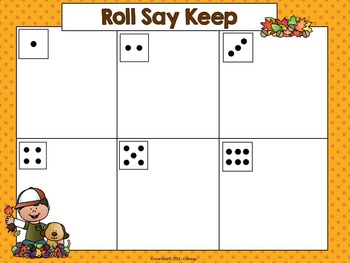 Sight Word Game - Roll Say Keep