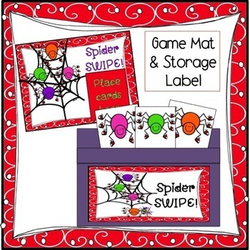 Sight Word Game - SPIDER SWIPE Game {EDITABLE}