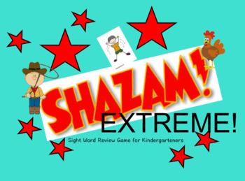 Sight Word Game Shazam