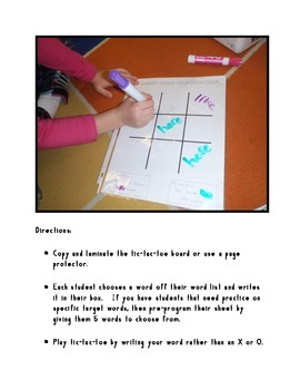 Sight Word Game: Tic-Tac-Toe