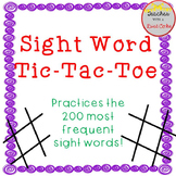 Sight Word Game- Tic-Tac-Toe