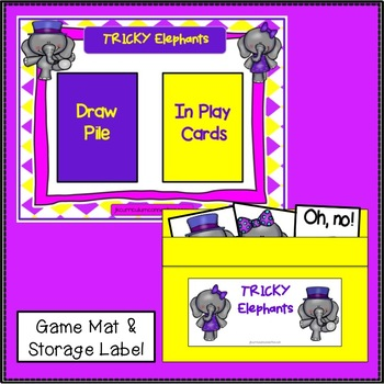 Sight Word Game- Tricky Elephants {EDITABLE}