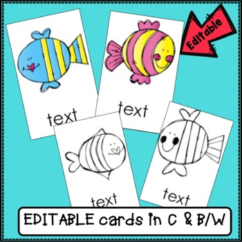 Sight Word Game - Tricky Fish {EDITABLE}