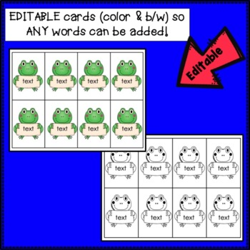 Sight Word Game -Tricky Frogs! {EDITABLE}