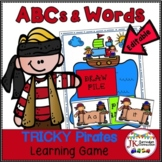 Pirate Game: Letters AND Sight Words - TRICKY Pirates! {EDITABLE}