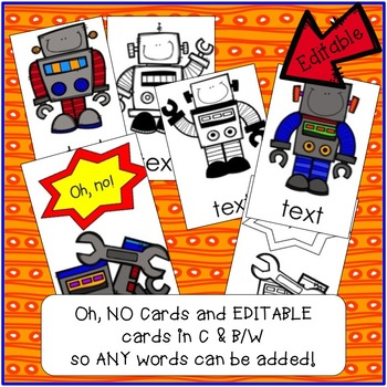 Sight Word Game - Tricky Robots