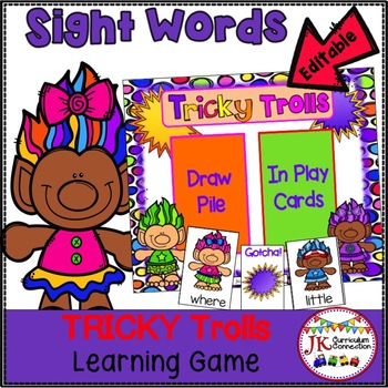 Sight Word Game – Tricky Trolls! {EDITABLE}