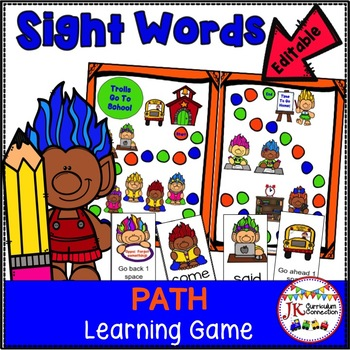 Sight Word Game - Trolls Go To School