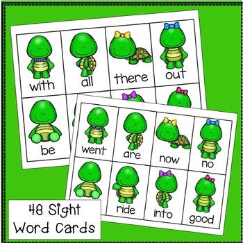 Sight Word Game: Turtle SWIPE {EDITABLE}