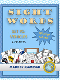Sight Word Game - Vehicles
