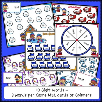 Sight Word Game - Winter Trolls BUMPER