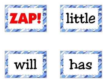 Sight Word Game: ZAP - Grade 1