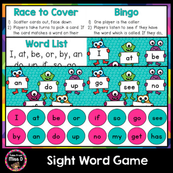 Sight Word Game - Monster Mania