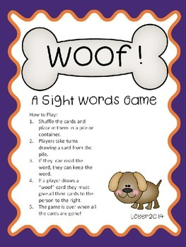 Sight Word Game with 101 - 200 Fry Words
